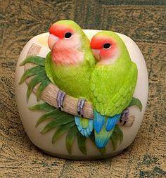 Ibis & Orchid Lovebirds Votive