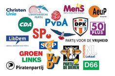 Hier zie je alle Nederlandse politieke partijen, er is dus veel keuze voor de nederlandse burgers om op te stemmen. Van: Do