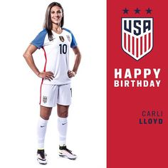 Happy she can make it to RIO! Score another hattrick for us? Female Football Player, Football Players, Carli Lloyd, Play Soccer, Best Player, One Team, First Nations, Fifa, Athletes