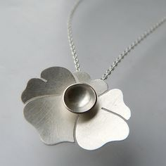Mini Botanical Pendant by Moira K. Lime. A sweet sterling silver botanical pendant great for everyday wear! Pendant comes with a 16