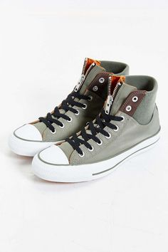Converse Chuck Taylor All Star Zip High-Top Sneaker - Urban Outfitters Converse Logo, Converse Shoes, Men's Shoes, Shoe Boots, Converse Outlet, Converse Chuck Taylor All Star, Converse All Star, Fashion Shoes, Shoes