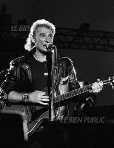 Johnny Hallyday en concert à Dijon le 6 juillet 1991