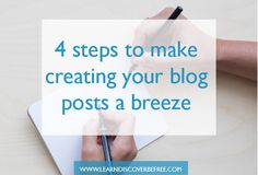 4 steps to make writing a blog post a breeze Business Tips, Breeze, Create Yourself, Blogging, Writing, Reading, How To Make, Ideas, Word Reading