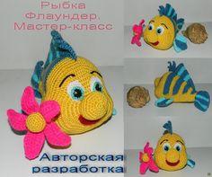 Мастер-класс по вязанию крючком. рыбка флаундер. -2