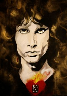 Bill Stidham's Jim Morrison from his Sacred Heart series. It's hanging in the living room to the left of my HDTV