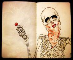 Got a problem with my lollipop? Dark And Twisted, Tumblr, Grim Reaper, Skull And Bones, Macabre, Cute Drawings, Artsy Fartsy, Design Art, Pop Art