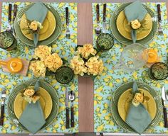 Table Decorations, Furniture, Home Decor, Block Prints, Green Table, Homemade Home Decor, Home Furnishings, Interior Design, Home Interiors