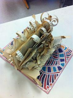 Art at Becker Middle School: Book Sculpture? During the girl's five-decade job, artist Sculpture Lessons, Sculpture Projects, Book Sculpture, Middle School Books, Middle School Art Projects, Art School, 3d Art Projects, Recycled Art Projects, Class Projects