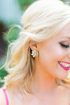 sparkly earrings | Love, The Nelsons #wedding