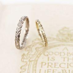 wedding ring, love the leaf inspiration // Quanto mais fino e delicado, mais bonito!