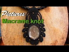Pictures Macrame knot necklaces stones with waxed cord - YouTube