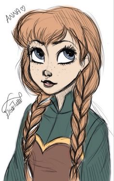 Colorized Anna sketch