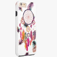 iPhone 6 Plus Cases | Hipster Watercolor Dreamcatcher Feathers Pattern Tough iPhone 6 Plus Case