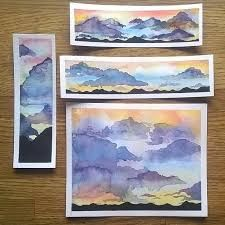 Found another watercolor tutorial by Art Tv by . Anyway it was a great way to relax. Watercolor Bookmarks, Watercolor And Ink, Watercolor Paintings, Watercolors, Watercolor Sunset, Watercolor Ideas, Watercolour Tutorials, Watercolor Techniques, Watercolor Landscape Tutorial