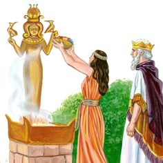 King Solomon with one of his wives worshipping a Goddess - www.jw.org