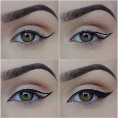 How to Apply Eyeliner. Eyeliner can help make your eyes stand out or look bigger, and it can even change their shape. Even if you've never worn eyeliner before, all it takes is a little practice to take your makeup to the next level! Makeup 101, Makeup Tricks, Makeup Goals, Love Makeup, Skin Makeup, Makeup Inspo, Makeup Inspiration, Makeup Ideas, Makeup Style
