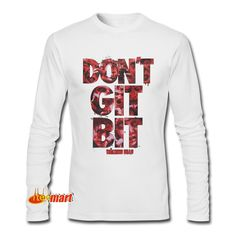 Don't Git Bit The Walking Dead Athletic Long Sleeve The Walking Dead Movie, People Around The World, Comic Books, Graphic Sweatshirt, Logo, History, Sweatshirts, Long Sleeve, Movies