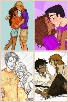 Jason and Piper, Hazel and Frank, Percy and Anabeth, Leo and Calipso