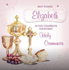 Personalized Greeting Cards, First Holy Communion, Holi, Place Cards, Place Card Holders, Girls, Toddler Girls, Daughters, Maids