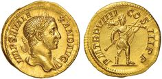 NumisBids: Nomisma Spa Auction 50, Lot 31 : ROMA IMPERO Alessandro Severo (222-235) Aureo - Testa laureata a d....