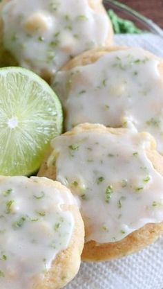 Key Lime Cookies – Dessert Now, Dinner Later! Key Lime Cookies Recipe ~ soft and delicious with a hint of lime Lime Cookie Recipes, Cookie Desserts, Dessert Recipes, Lime Recipes Baking, Key Lime Desserts, Plated Desserts, Key Lime Cookies, Delicious Desserts, Yummy Food