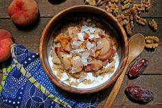 Spiced Peaches & Cream Amaranth Porridge