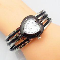 Women's  Fashion Alloy Heart-Shaped Dial Bracelet Watches Bohemian Style Watch – GBP £ 6.56