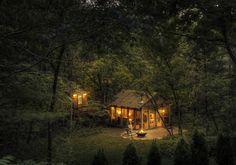 La maison de verre en pleine forêt
