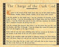 The Charge of the Dark God . ( Please note, just bc they're called the dark gods, doesn't mean they're dark in a satanic way at ALL! This is jst reference to the mysterious underworld in mythology & light vs dark tales ! Wiccan Spell Book, Witch Spell, Wicca Witchcraft, Magick, Truth Spell, Real Love Spells, Shadow Wolf, Real Witches, Alphabet Symbols