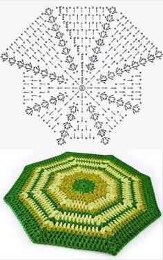 Patrón alfombra de lana octogonal