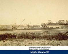 Thames River railroad bridge under construction, New London-Groton. :: Connecticut History Online