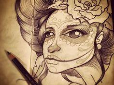 "My first ""Dia de los muertos"" girl... by Mc Baldassari"