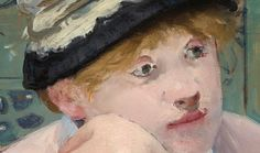MANET, Edouard French Realist-Impressionist (1832-1883)_The Plum, 1878 detail