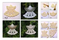 This Christmas Angel Ornaments Free Crochet Pattern is so beautiful. It uses few angel crochet patterns to create crochet ornaments.