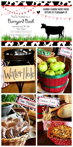 The cutest barn party ever!  So many creative and easy ideas!