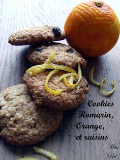 Cookies romarin, orange et raisins