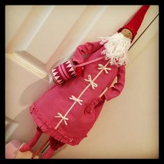 Tilda Santa with Drum made... Lydias Treasures