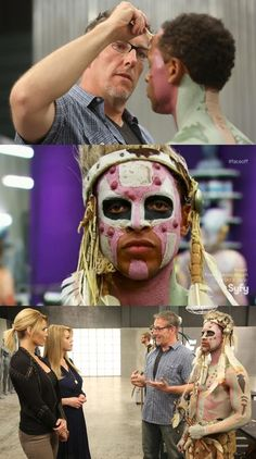 Face Off - Season Episode 11 Face Off Syfy, Tribal Warrior, Mud, That Look, Beauty Hacks, Foundation, Halloween Face Makeup, Challenges, Paint
