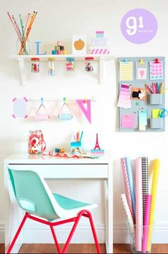 Pastel office space //