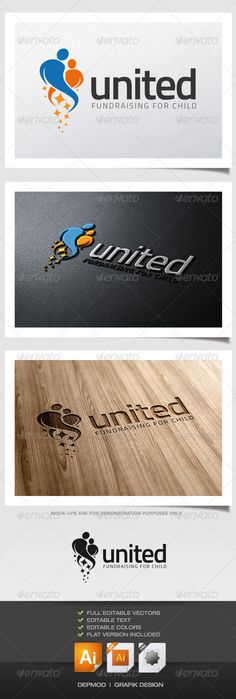 United Logo — Transparent PNG #charity #father • Available here → https://graphicriver.net/item/united-logo/5887728?ref=pxcr