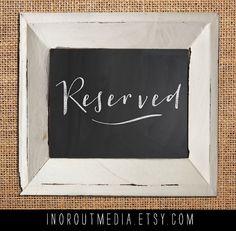 Rustic Wedding Chalkboard sign  Printed keepsake by inoroutmedia, $25.00