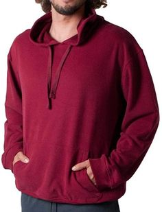fc8e4d3f GCKNITWEAR'S Men's Solid Pullover Hoodie Sweatshirt With Front  Pockets(XX-Large, Burgundy)