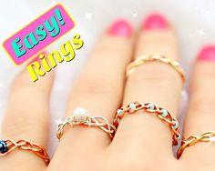 5 DIY Easy Rings - Braided & No Tools!