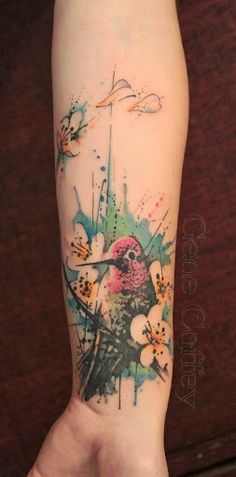 15 awesome watercolor tattoos