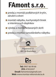 Nábytok na mieru, výroba a montáž, predaj a pokládka podlahy Bratislava Bratislava