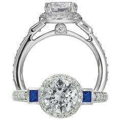 #AGSMember Ritani Elegant Diamond Ring  #AmericanGemSociety  @pinterest.com/amergemsociety/