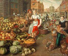 16. Jahrhundert - Gemüse-und Obstmarkt