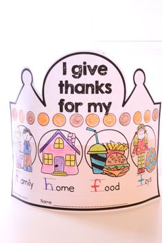 Adorable thematic crowns that review thematic vocabulary, reading, writing and math skills.
