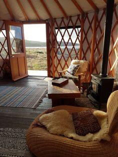 Lakeside luxury yurt glamping on the Wild Atantic Way, Ireland