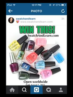 Great new giveaway for swatchandlearn.com's 5th Blogaversary